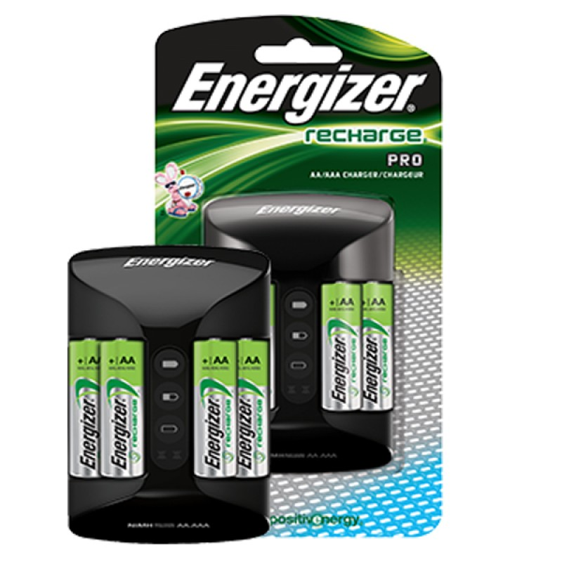 Energizer Pro Charge AA AAA Battery Charger With Included 4 Pcs 2000 MAh Rechargeable Batteries