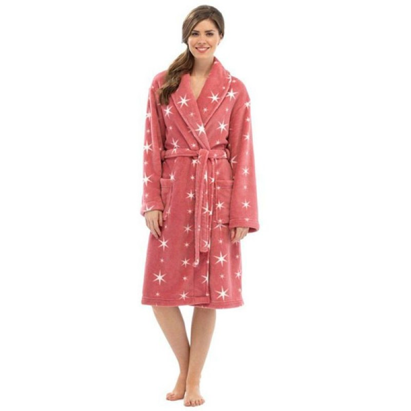 Tom Franks Ladies Soft Fleece Dressing Gown Women With Pockets
