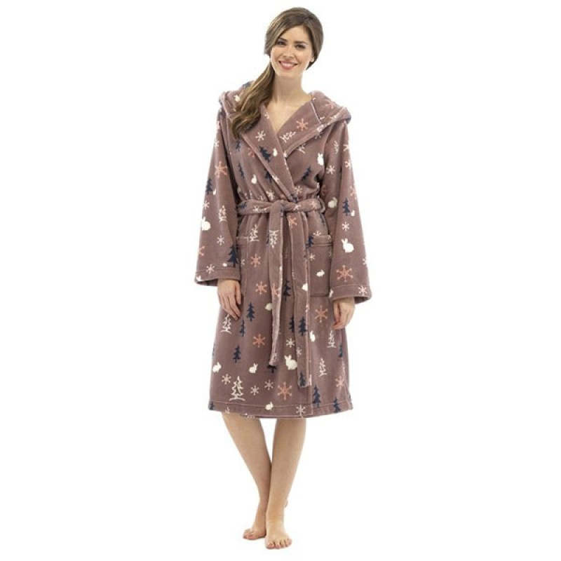 Tom Franks Ladies Women\'s Supersoft Woodland Winter Print Fleece ...